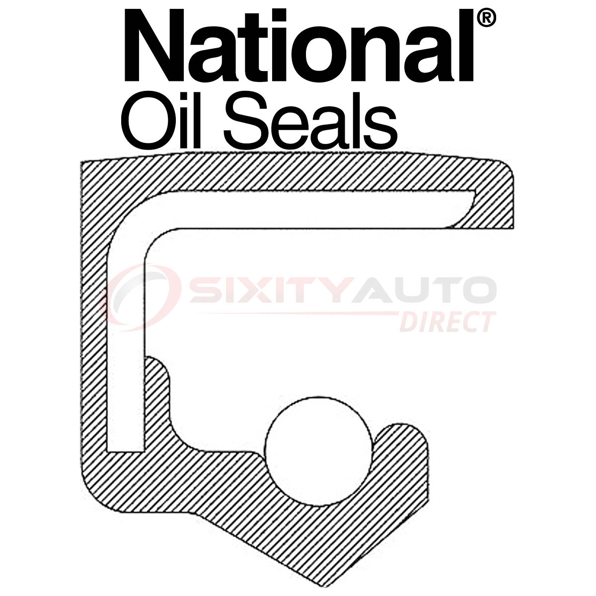 National Wheel Seal for 1988-2003 Jaguar Vanden Plas 3.6L