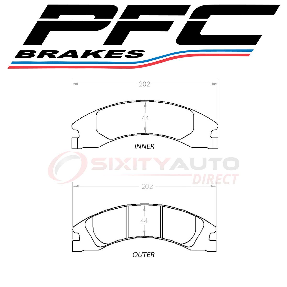 PFC Brakes Front Disc Brake Pad Set for 2008-2017 Ford E
