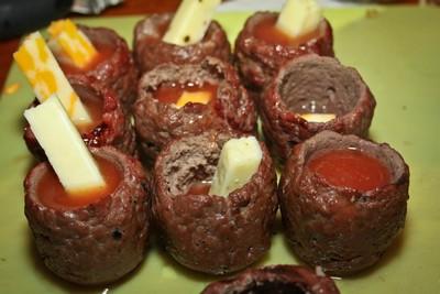Vlees shotjes
