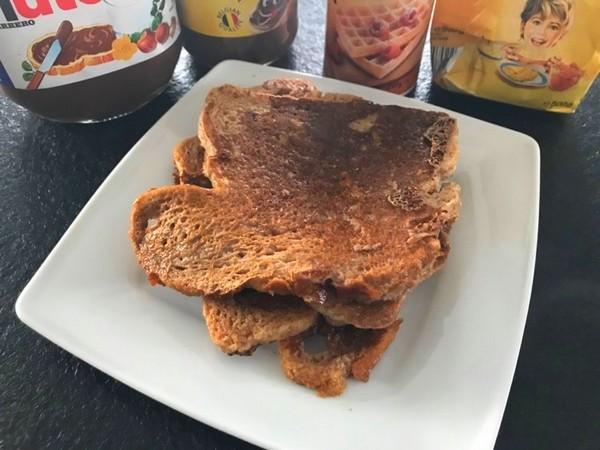 verloren brood met chocomelk