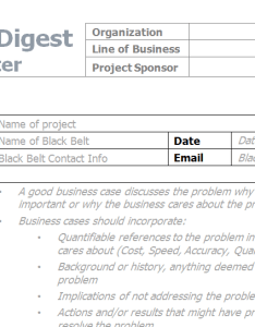 Six Sigma Project Charter Also Elements Of The Explore Rh Blogsterofproject Sample In Word Sixsigmadigest