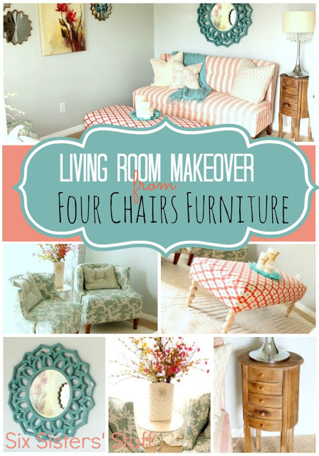 four chairs furniture patio chair and ottoman living room makeover by six sisters stuff
