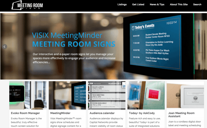 18 Digital Signage Answers To Meeting Room Booking