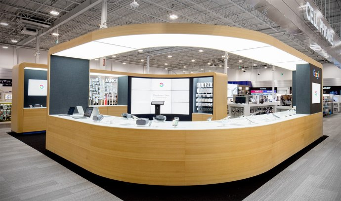 Best Buy Canada-Best Buy hosts Google-s first -shop within a sho