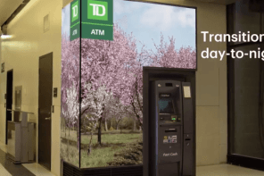 Toronto Rail Hub's ATM Gets Virtual Nature Scene Surround With Fine Pitch LED