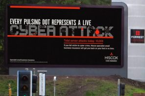UK Digital Billboard Campaign Visualizes Cyber-Crime In Real-Time