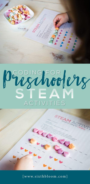 Coding Preschoolers Steam Activities - Sixth Bloom