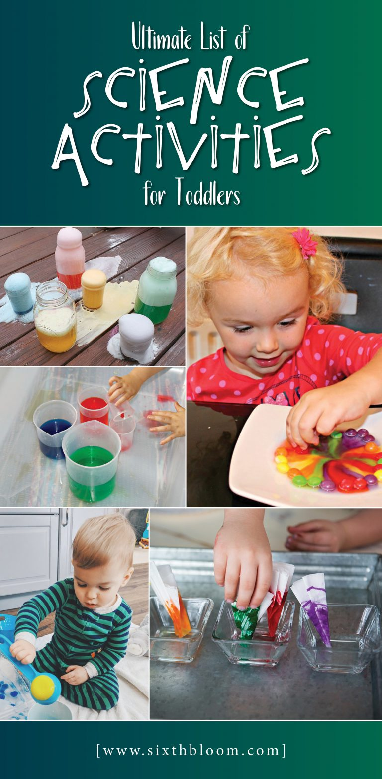 34 Science Activities for Toddlers - Sixth Bloom
