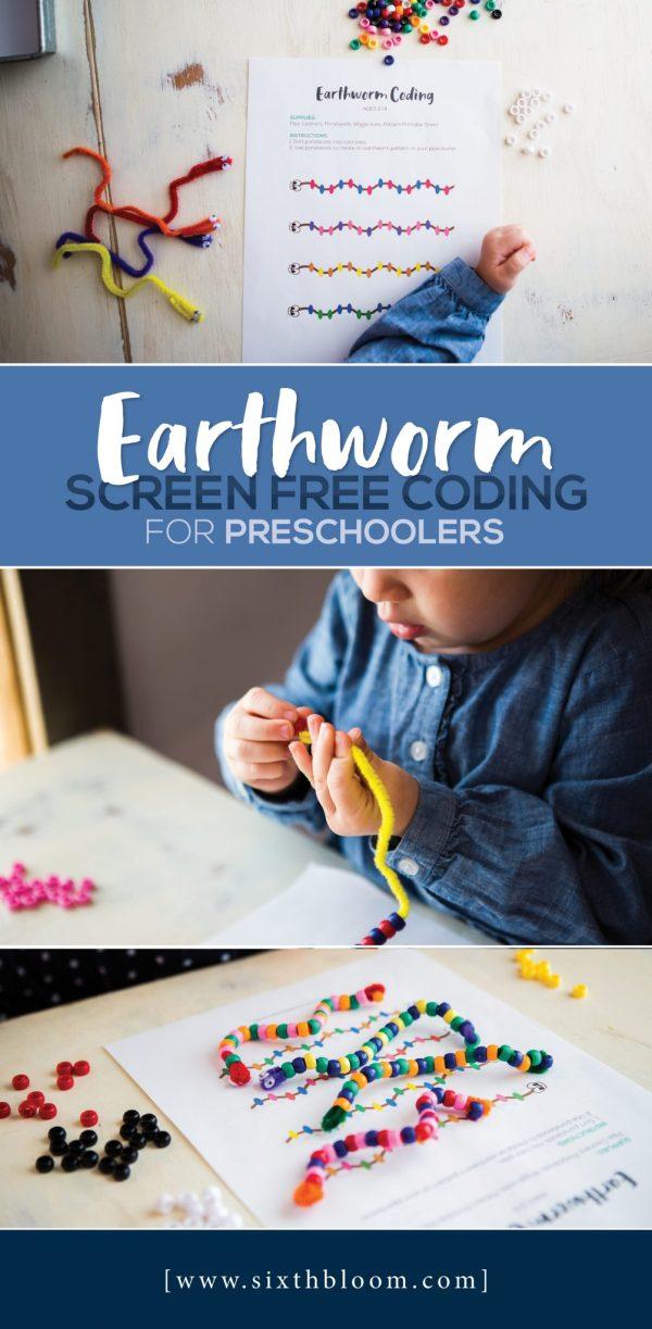 Earthworm Screen Free Coding Preschoolers - Sixth