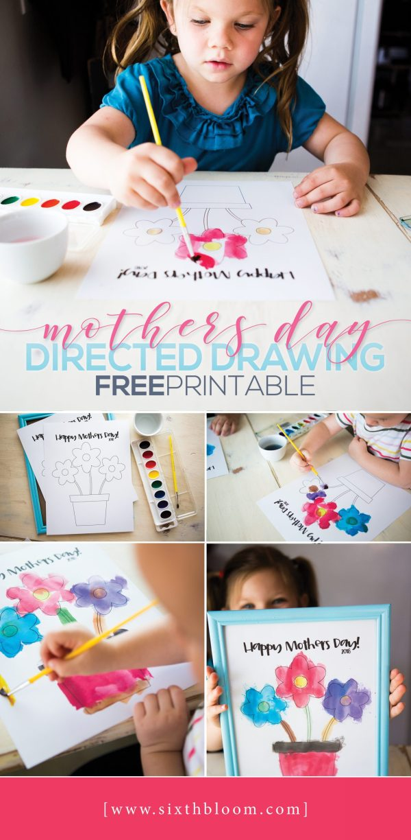 Mothers Day Directed Drawing - Free Printable Sixth