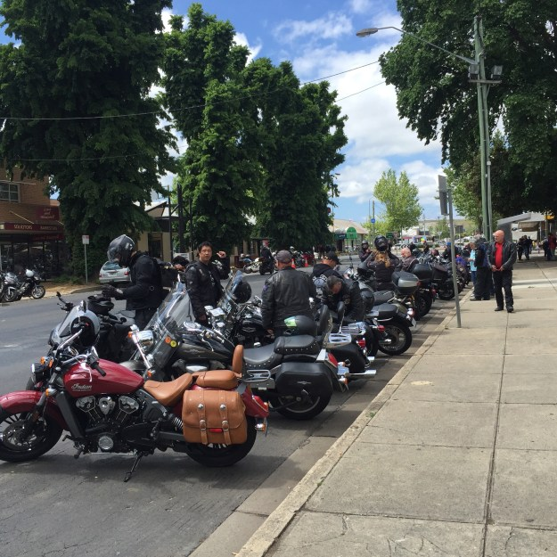 A small sample of the number of bikes in Cooma on Saturday morning