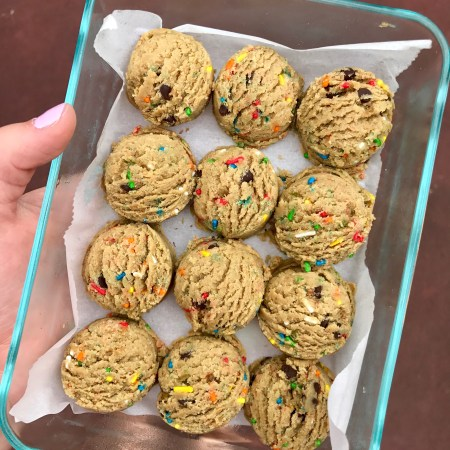 Funfetti Cake Batter Cookie Dough Protein Bites