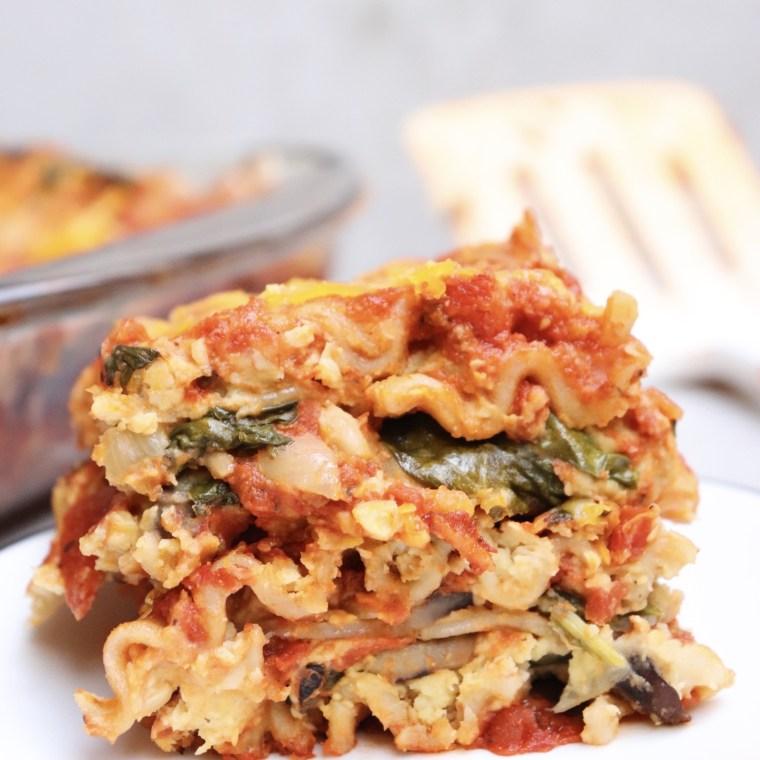 Gluten-Free Chickpea & Cashew Veggie Lasagna