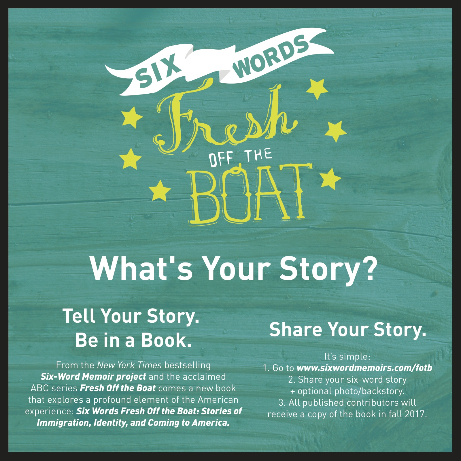 Call For Submissions Six Words Fresh Off The Boat Book