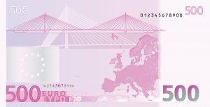 500 Euro Arka Yüzü
