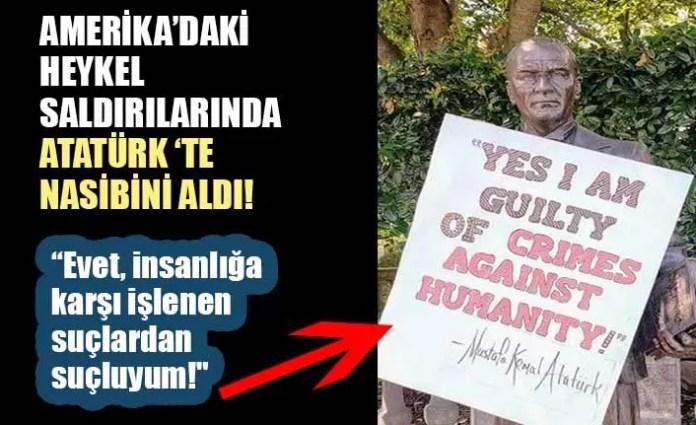 ABD'de Atatürk heykeline saldırı