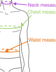 Determine  shirt size from chest and waist measurements also men   rh sizechart
