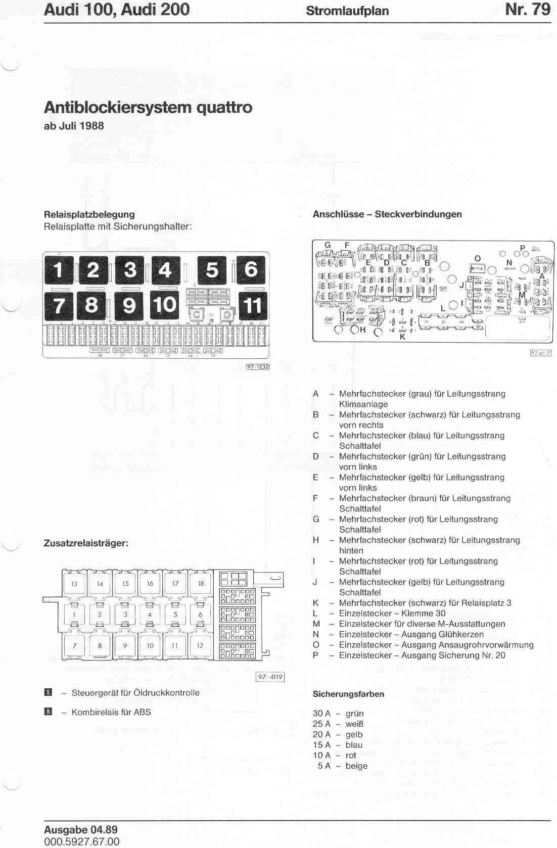 audi a2 radio wiring diagram 01 ford f150 1997 a4 fuse box  for free