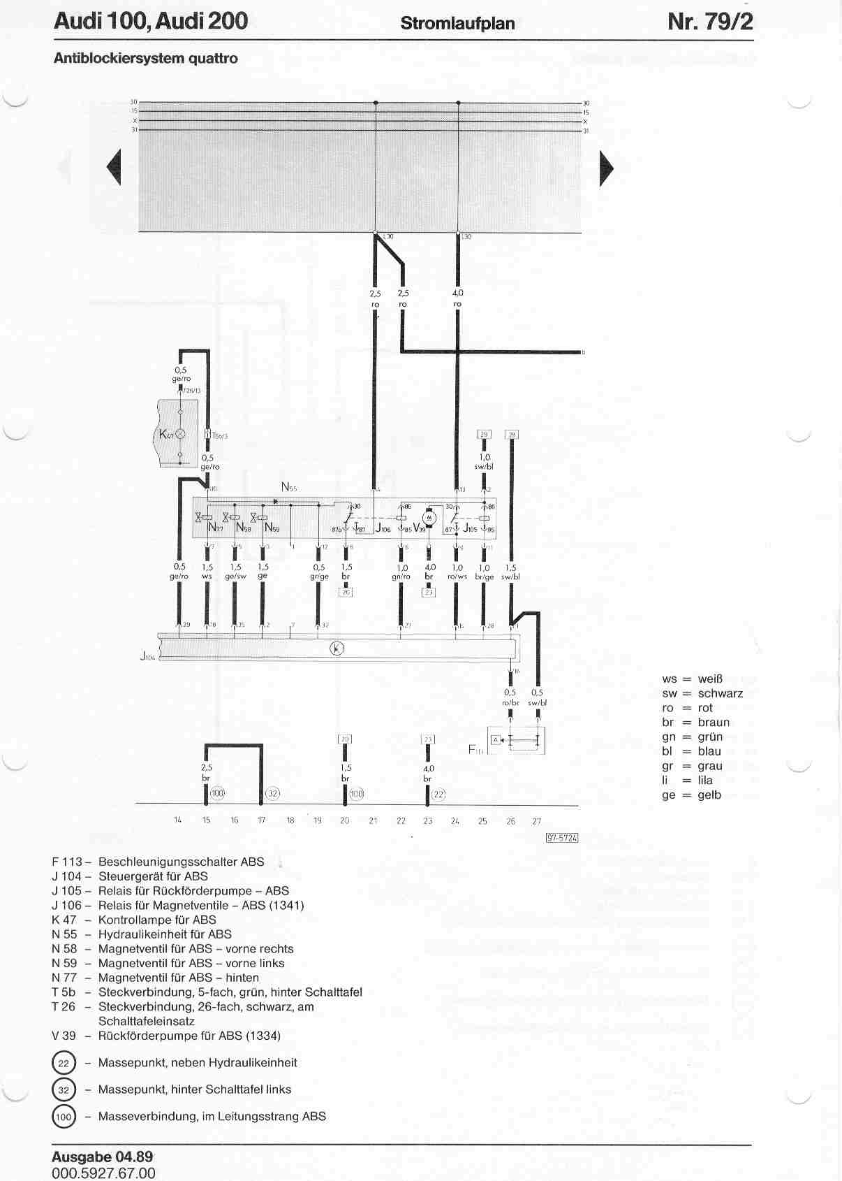 audi 100 c4 wiring diagram of gi tract and intestines 200 factory diagrams