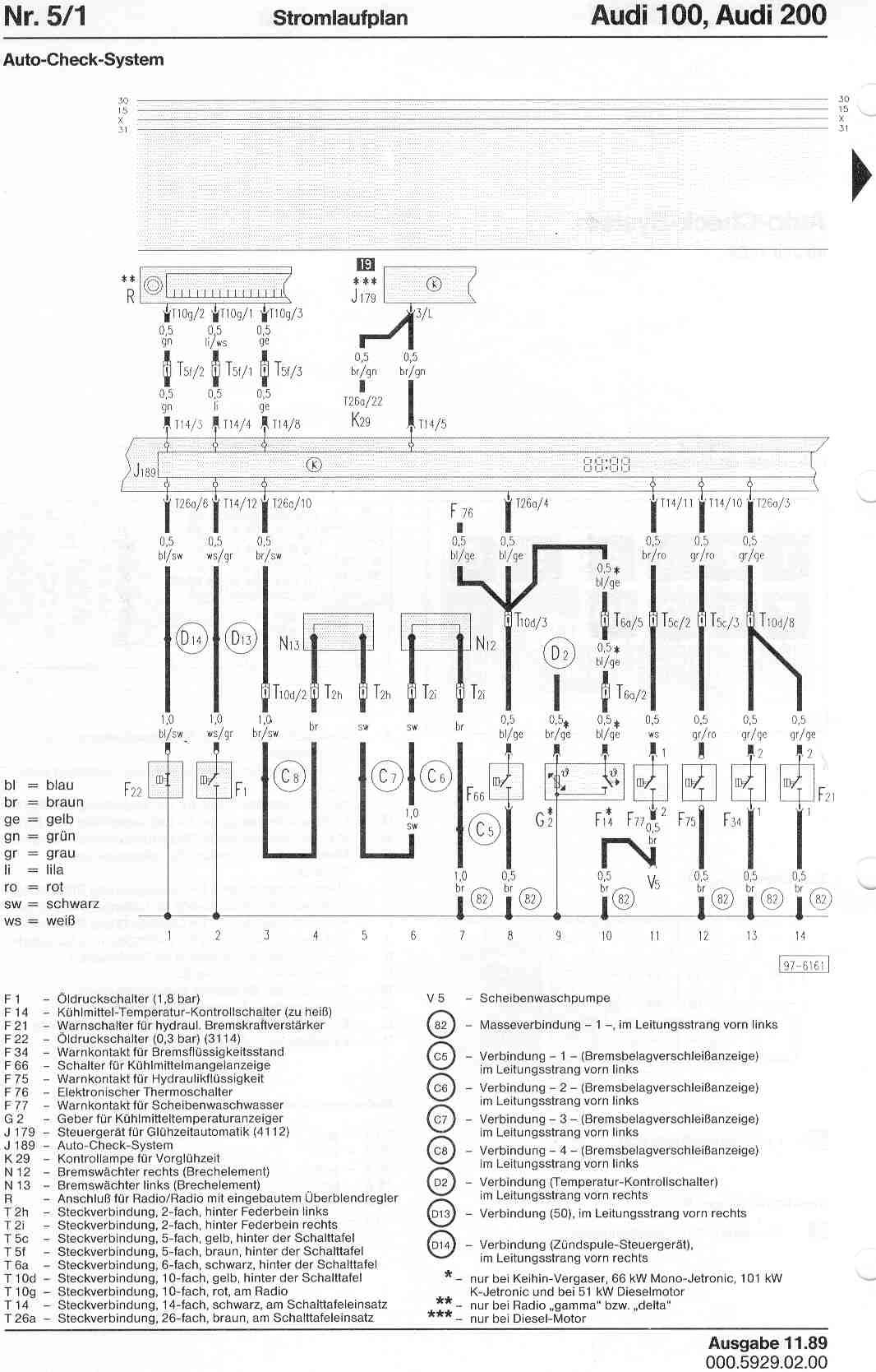 audi 100 c4 wiring diagram eaton iec motor starter 200 factory diagrams