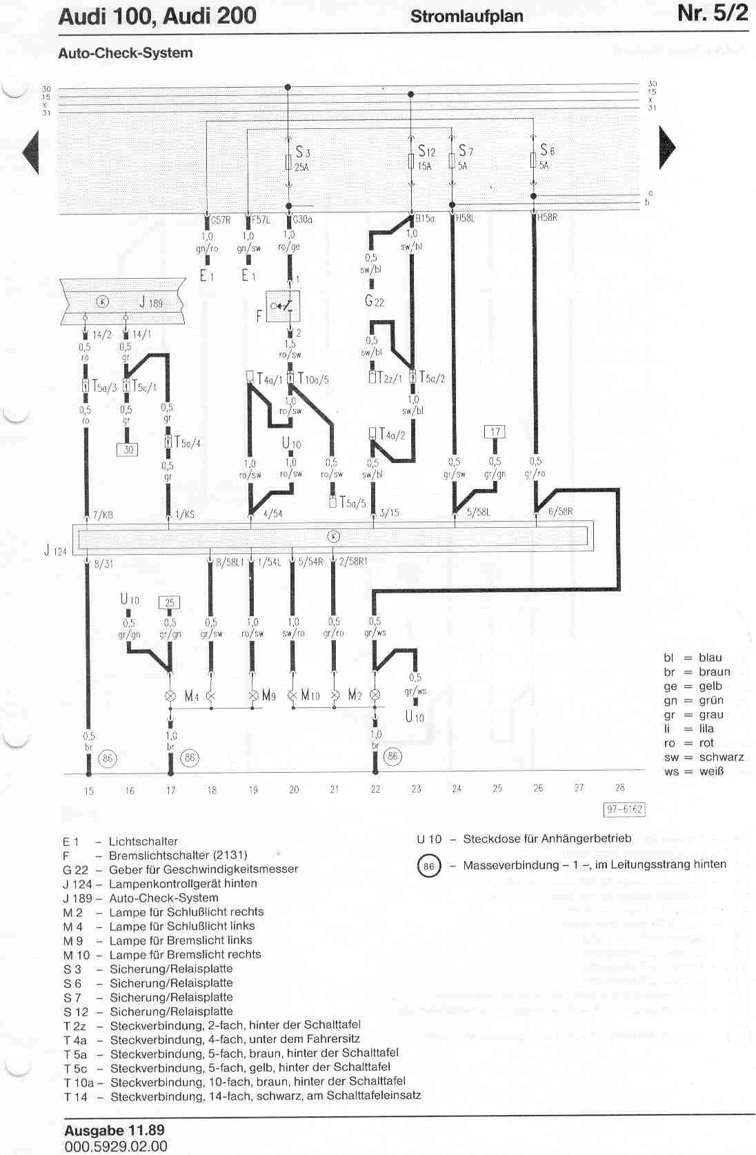 audi 100 c4 wiring diagram volvo penta 200 factory diagrams