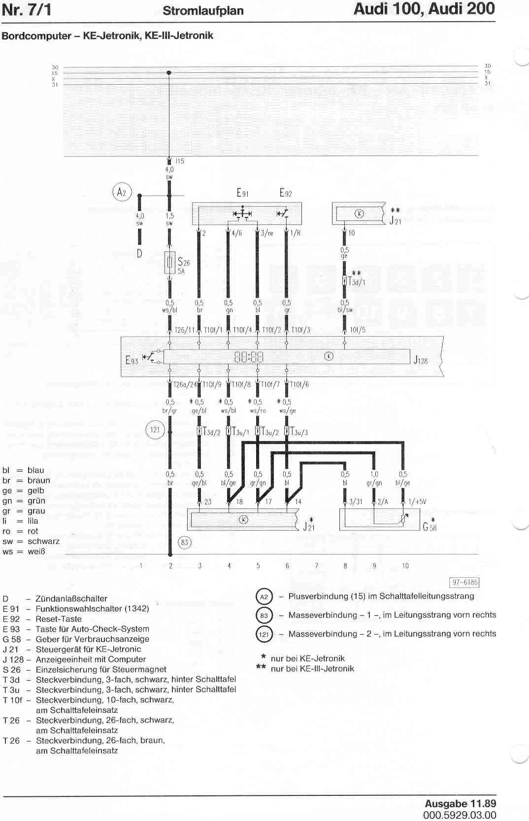 audi 100 c4 wiring diagram 2002 honda accord fuse box 200 factory diagrams