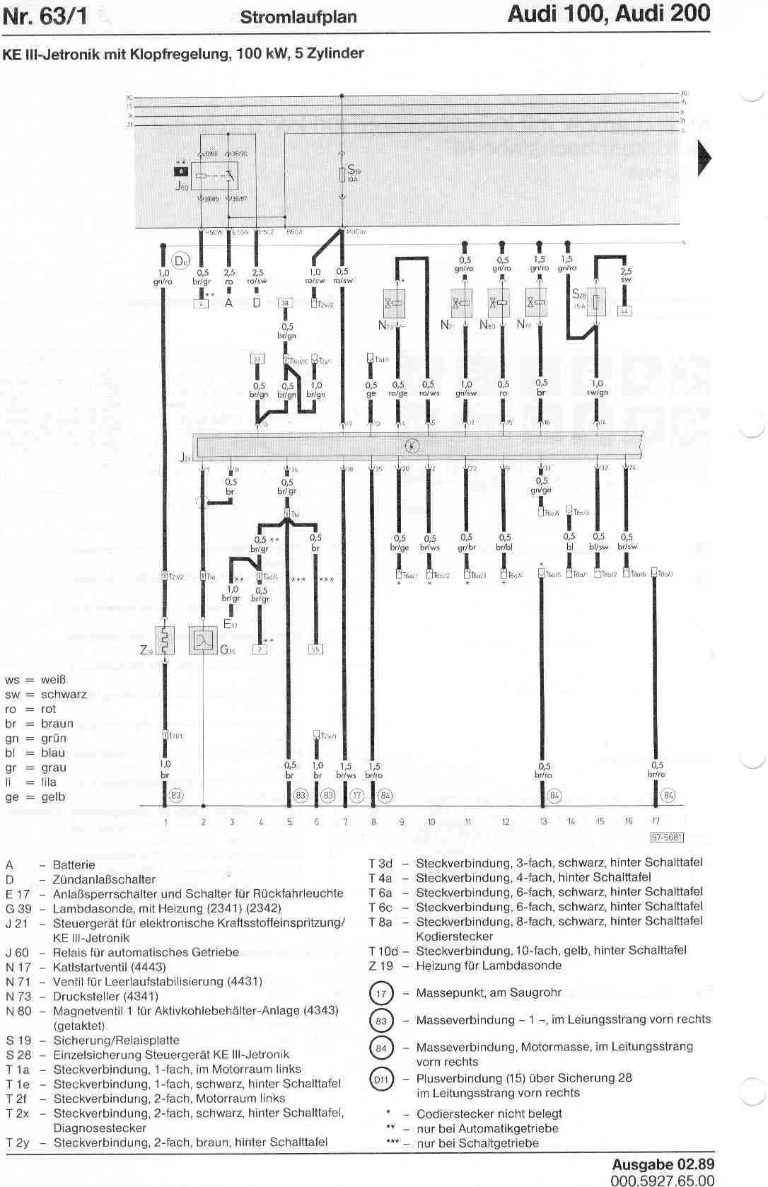 audi a6 c4 wiring diagram chocolate phase 100 200 factory diagrams