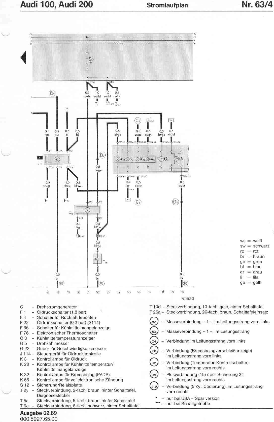 audi 100 c4 wiring diagram shark internal organs 200 factory diagrams