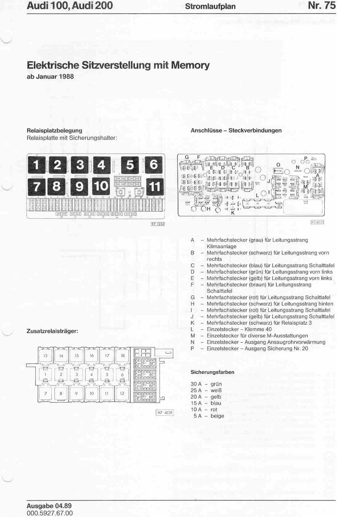 hight resolution of page 1 audi 100 200 factory wiring diagrams