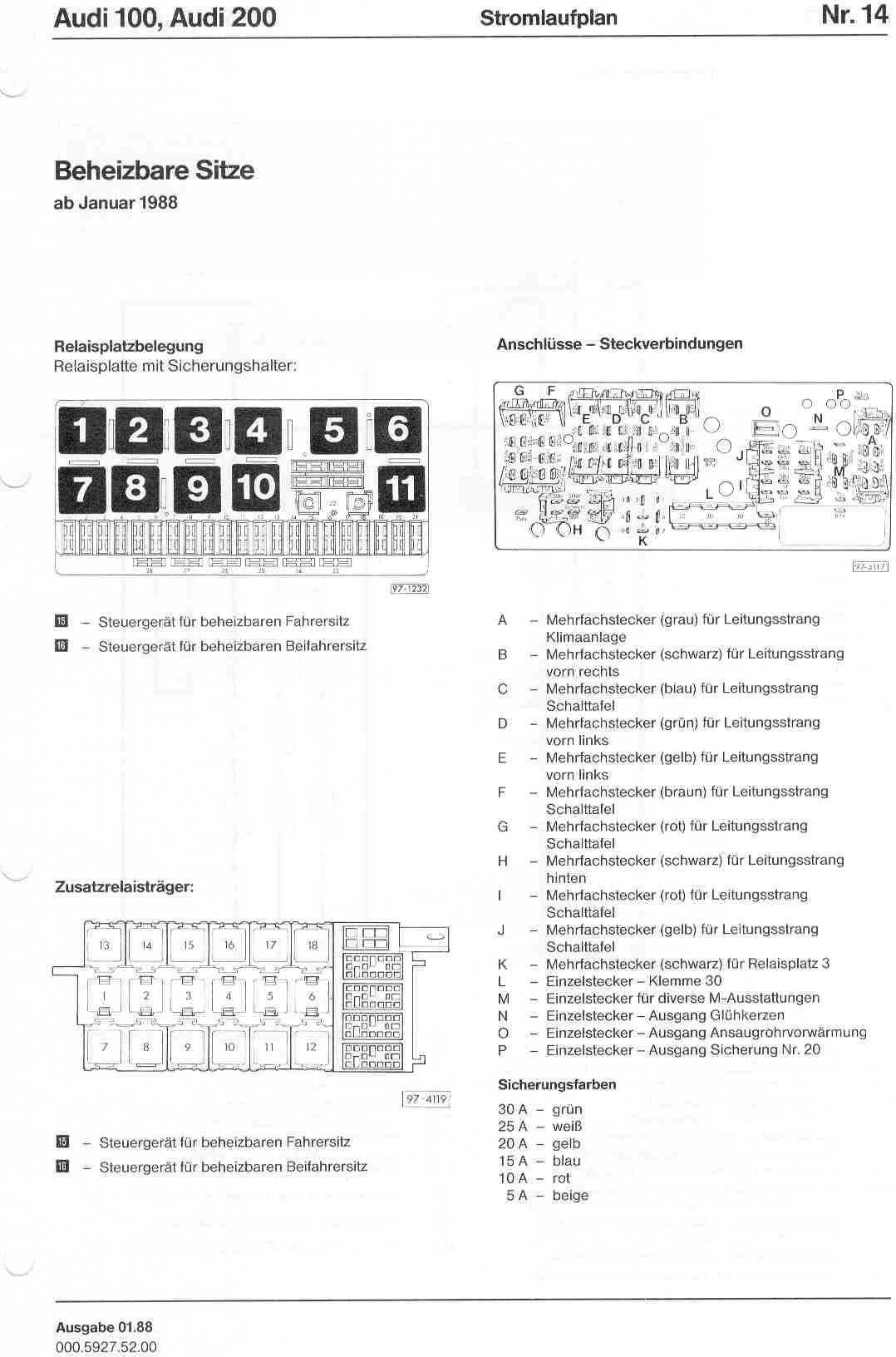 audi 100 c4 wiring diagram 2002 subaru impreza stereo 100/200 factory diagrams