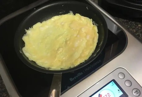 Three egg omelet on the Breville PolyScience Control Freak