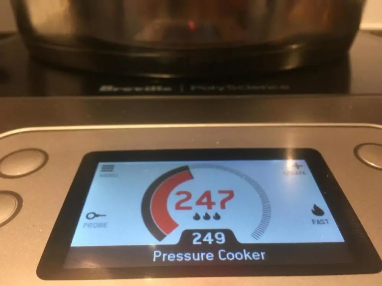 Stove top pressure cooker on the Breville PolyScience Control Freak