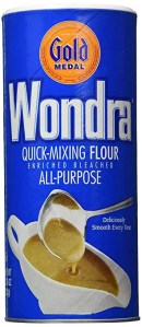 Wondra flour for a delicate crispy batter
