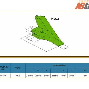 Kubota IMP123-14RH SIDE Bucket Tip Size