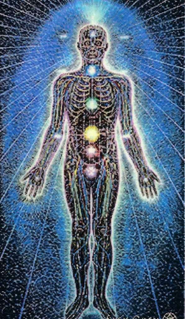 Het tweede of etherische lichaam bestaat uit minder grove energie