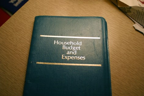 Vintage unused Household budget manager
