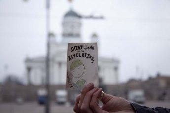 SJATR Sticker at Helsinki Cathedral