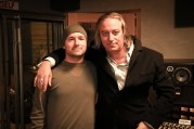 Saint John and Peter Buck in the studio