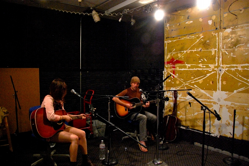 Saint John and Alanna Clarke at KDVS Radio