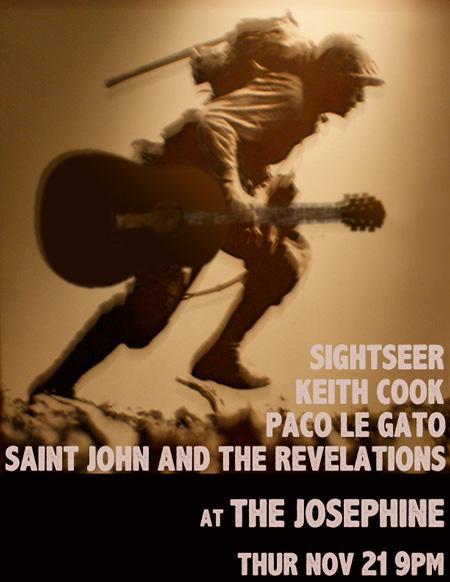 Saint John, Keith Cook, Paco Le Gato, Sightseer, live at the Josephine in Ballard Seattle