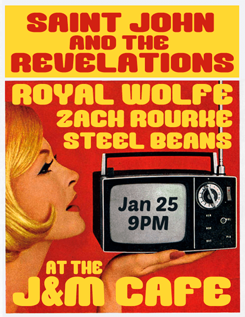 Saint John and the Revelations live at the J&M Cafe with Royal Wolfe