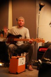 SJ playing bass