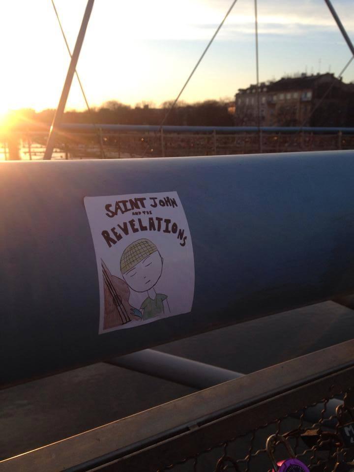 SJATR sticker on the Lovers Bridge in Krakow Poland