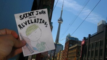 SJATR sticker at the CN Tower in Toronto (thanks, Emily!)