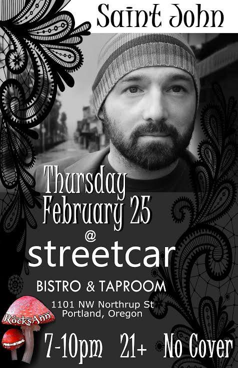 Saint John and the Revelations at the Streetcar Bistro & Taproom Portland Oregon