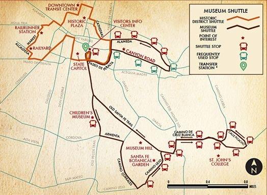 Santa Fe Pick Up Map