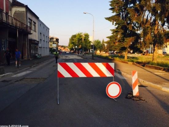 Radovi u Sjenici - asfaltiranje i rekonstrukcija / Sjenica Jul 2015.