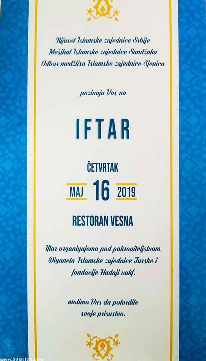Iftar u restoranu Vesna AAA (Video) - Sjenica 16.05.2019.
