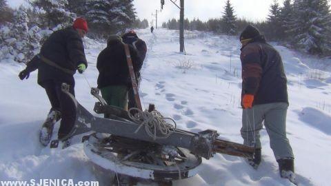 postavljanje ski lifta zari
