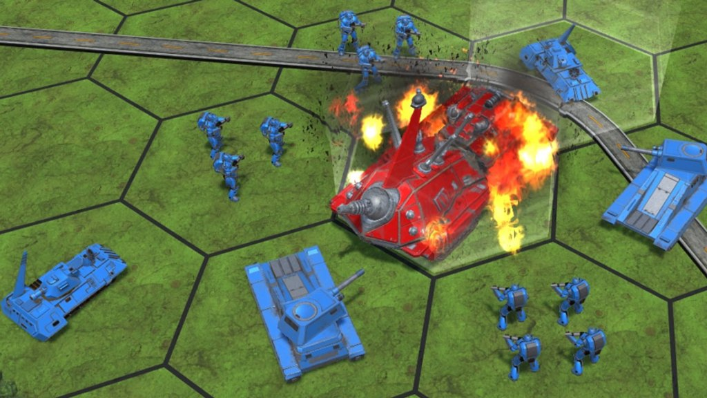 A defeated Ogre vehicle.